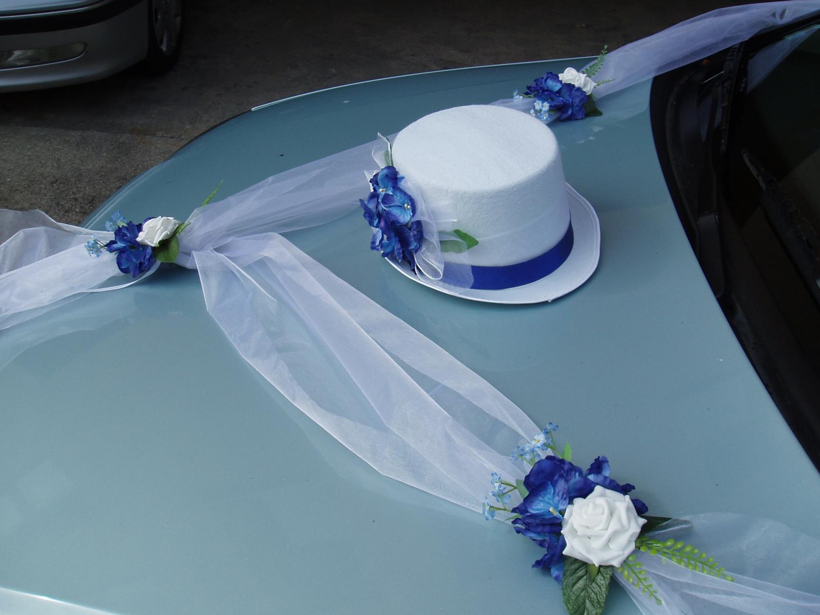 svatební set na auto-modrý - Obrázek č. 3
