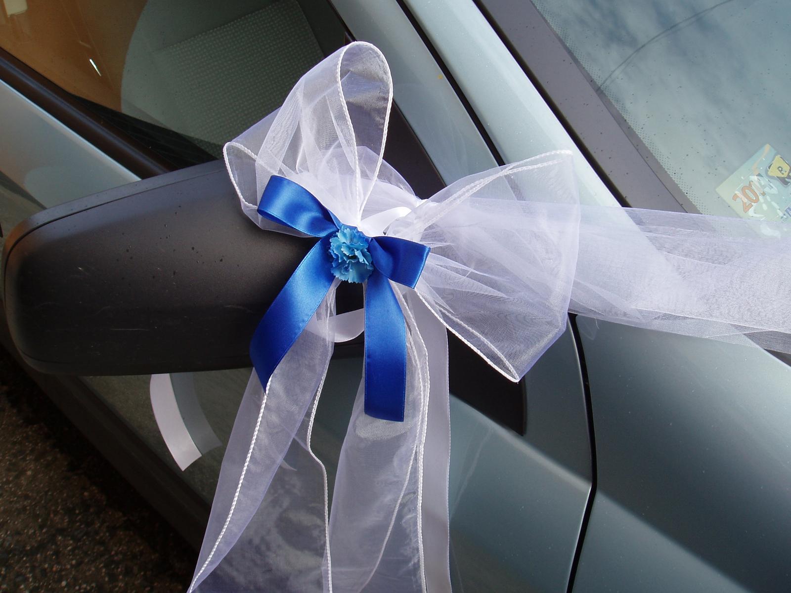 svatební set na auto-modrý - Obrázek č. 4