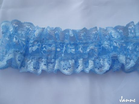 jednoduchý modrý podvazek - Obrázek č. 1