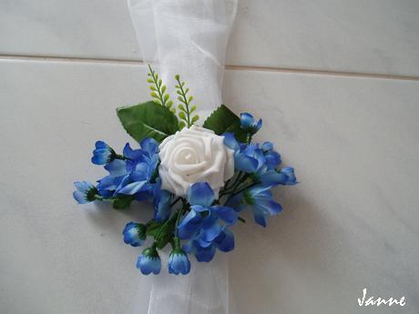šerpa modro-bílá - Obrázek č. 1
