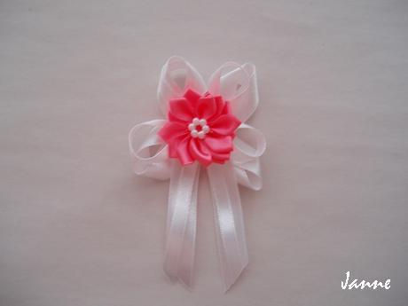 vývazek s kytičkou-růžová pink - Obrázek č. 1