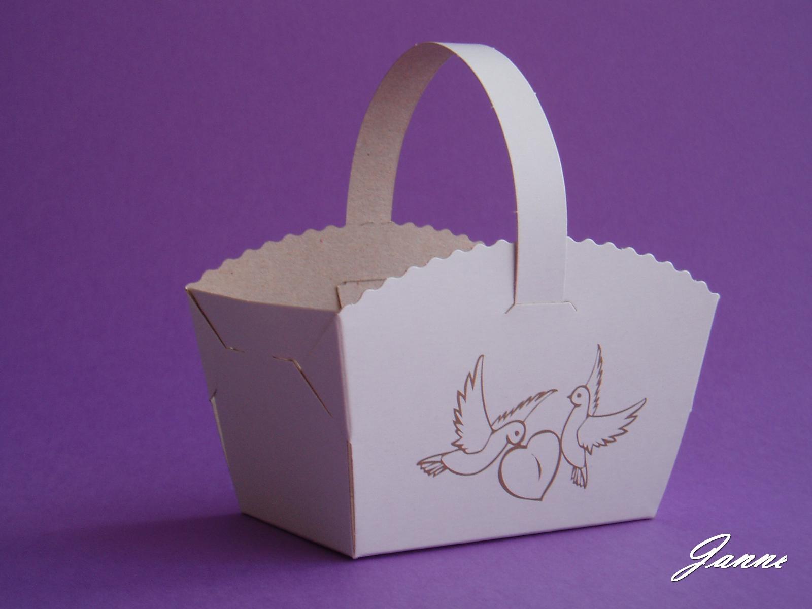 košíček na koláčky-holoubci - Obrázek č. 1