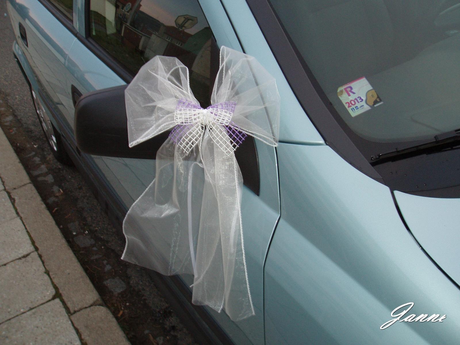 mašle na zrcátka auta - Obrázek č. 1