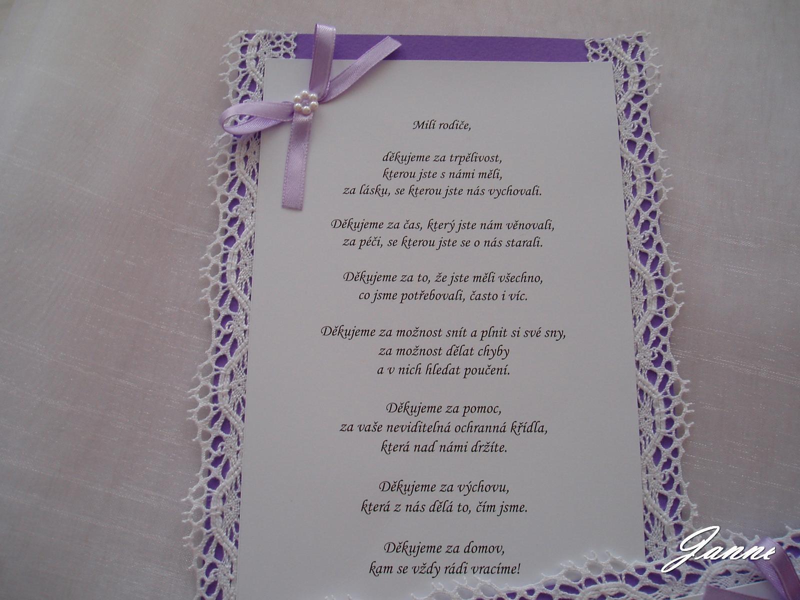poděkování rodičům-lila+krajka - Obrázek č. 1