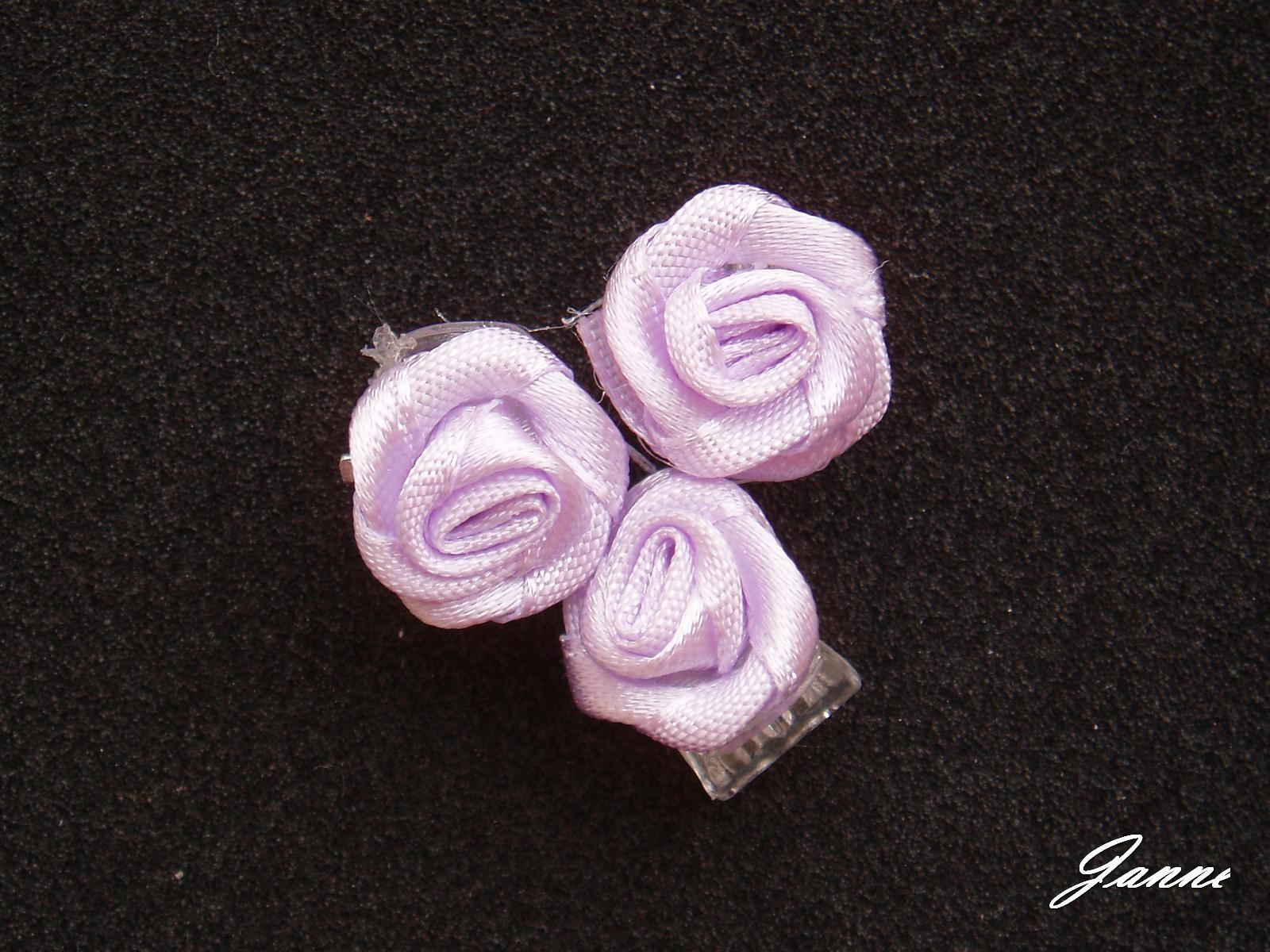 skřipec do vlasů-fialková kytička - Obrázek č. 1