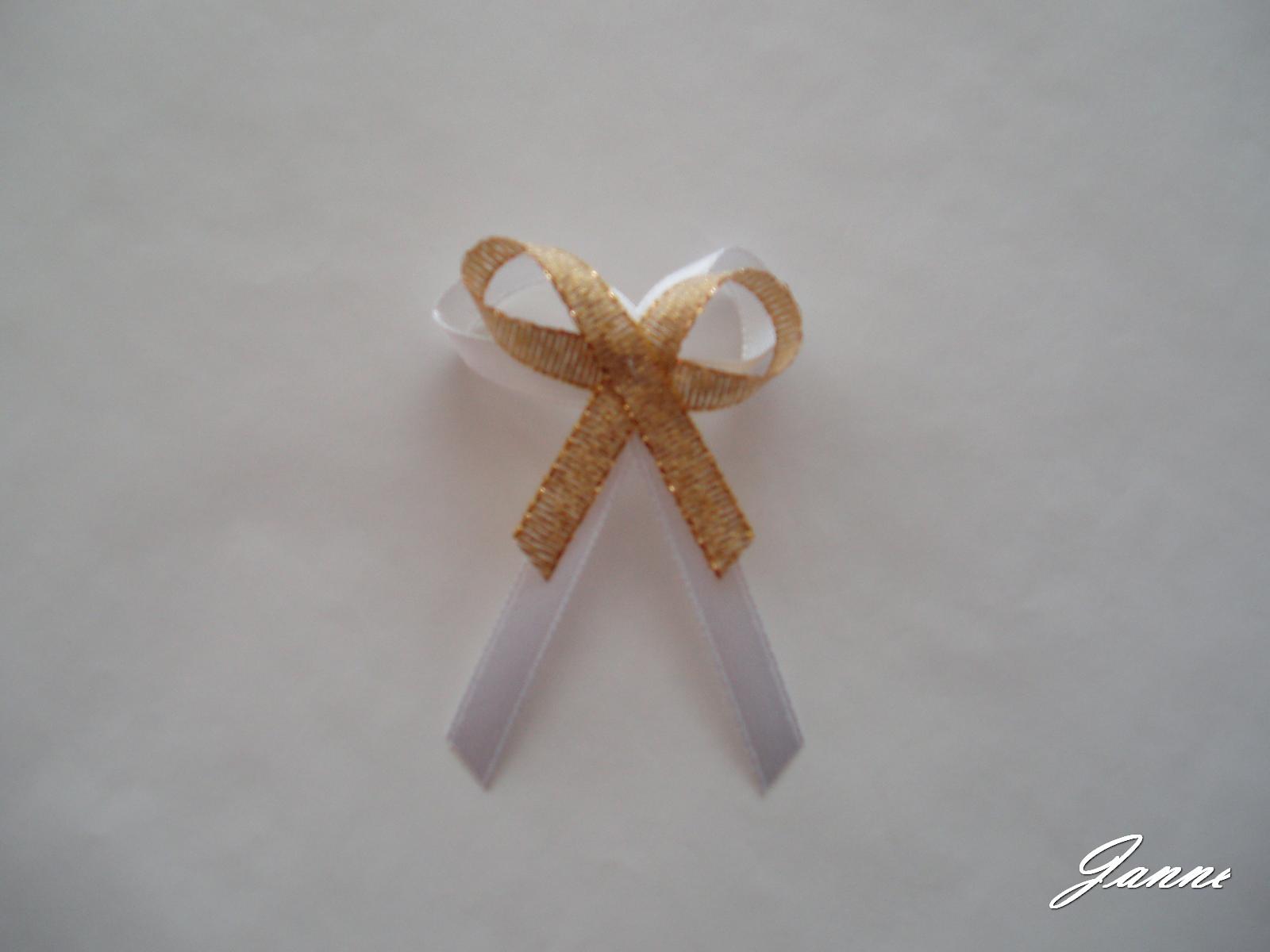 vývazek-zlatý,malá mašlička - Obrázek č. 1