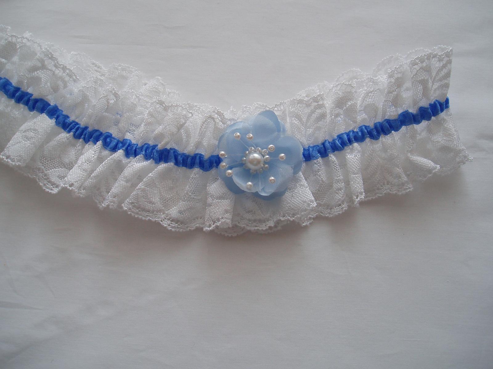 podvazek-modrý kvítek - Obrázek č. 1