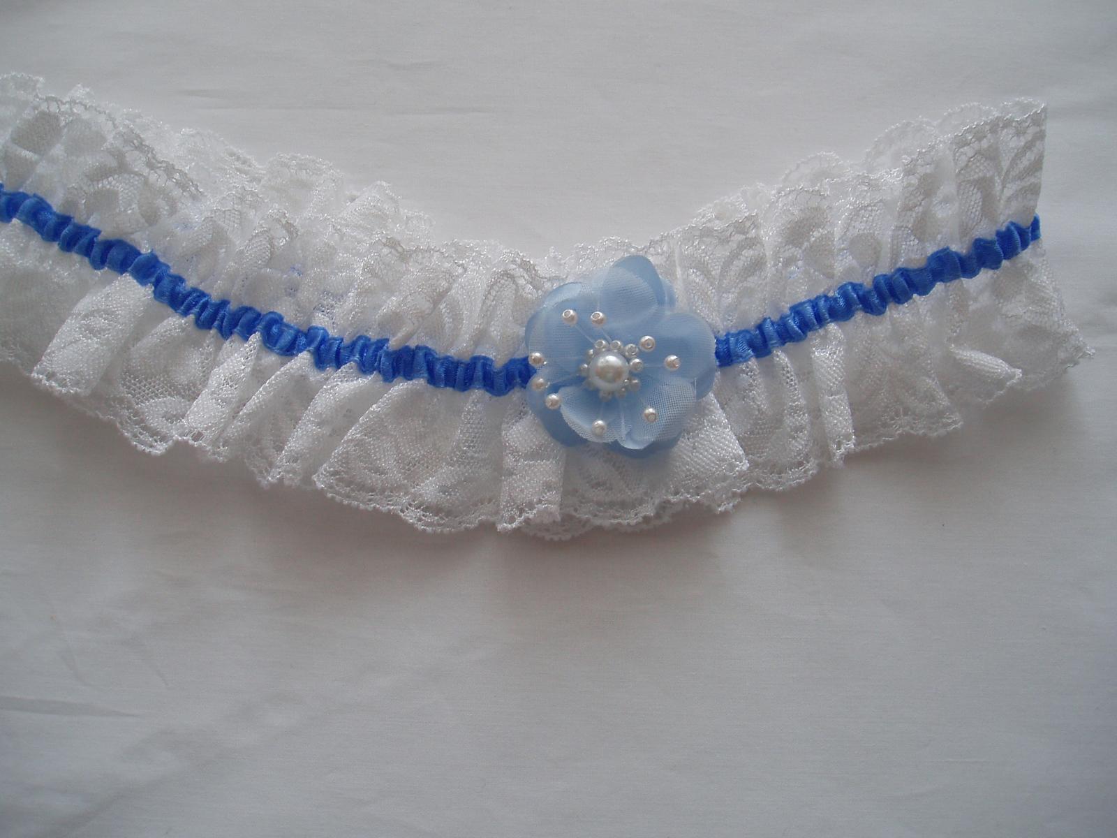 podvazek-modrý kvítek - Obrázek č. 2
