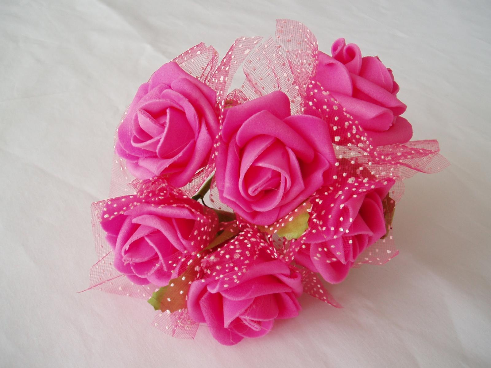 pěnová růže-fuchsiová - Obrázek č. 1