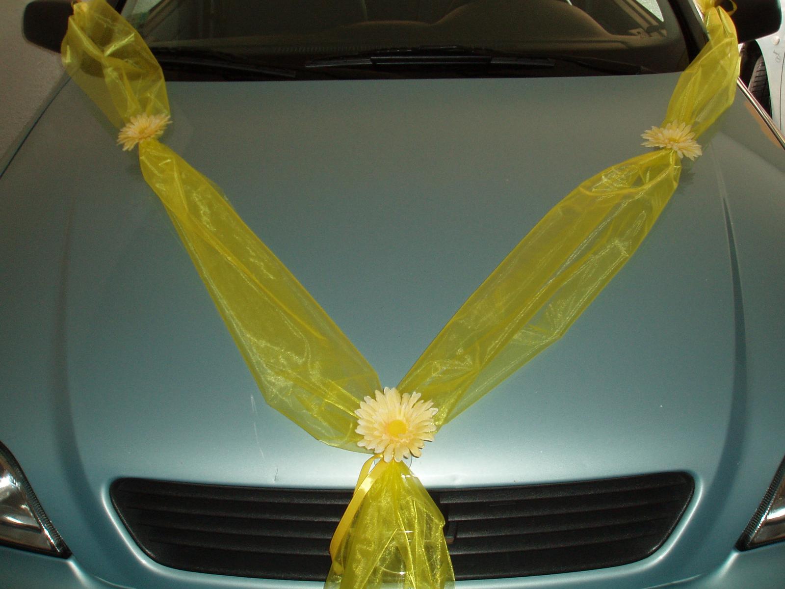 šerpa na auto-žlutá - Obrázek č. 1