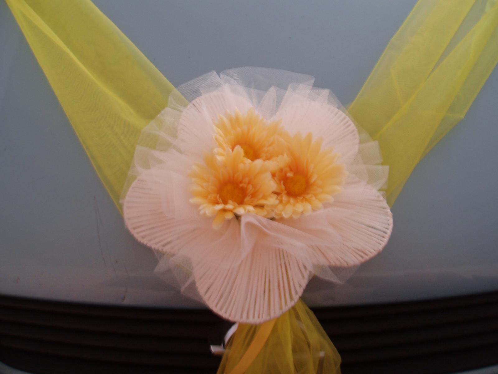 šerpa na auto-žlutá 2 - Obrázek č. 1