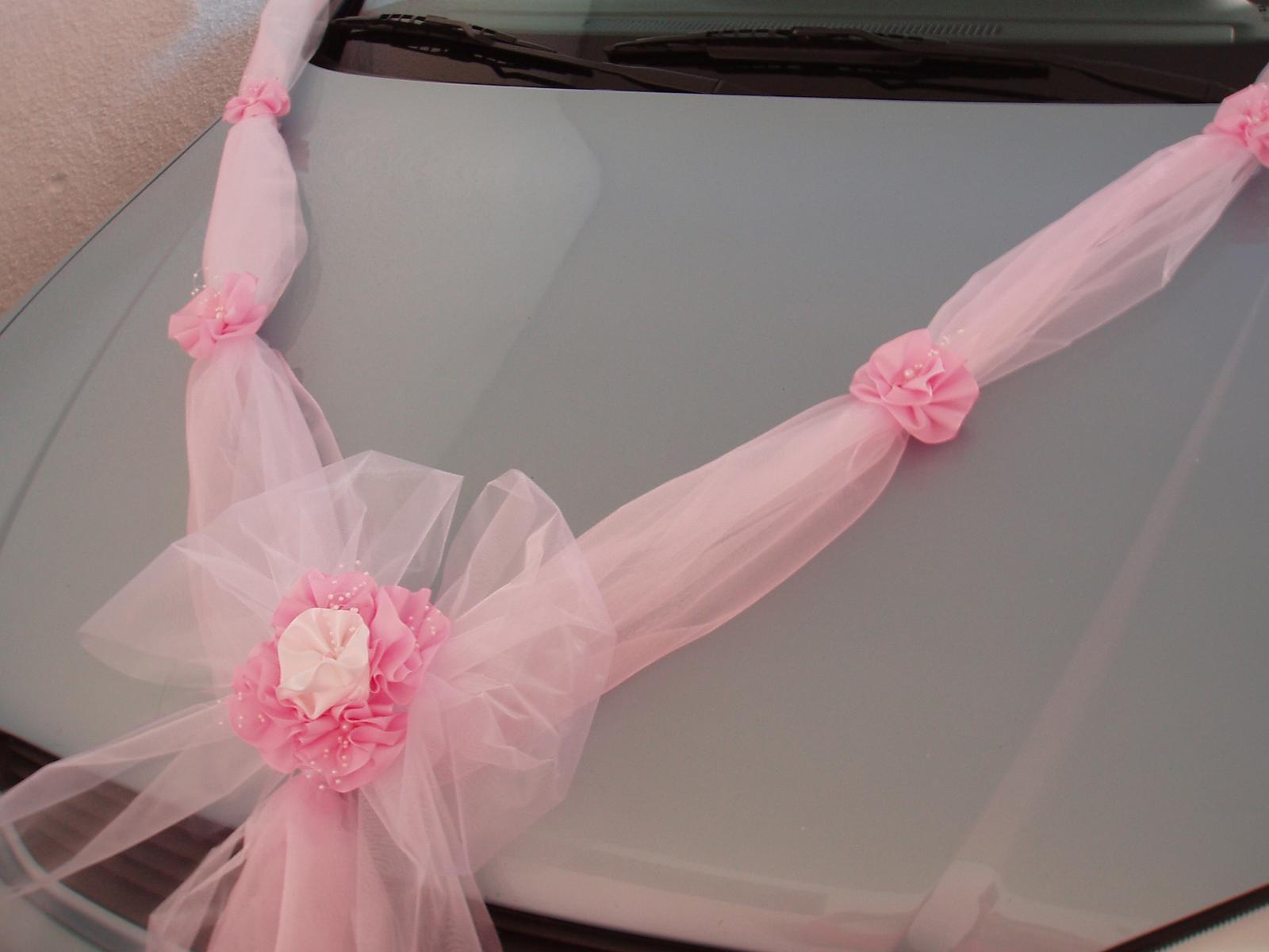 dvojšerpa bílo-růžová s mašlí - Obrázek č. 1