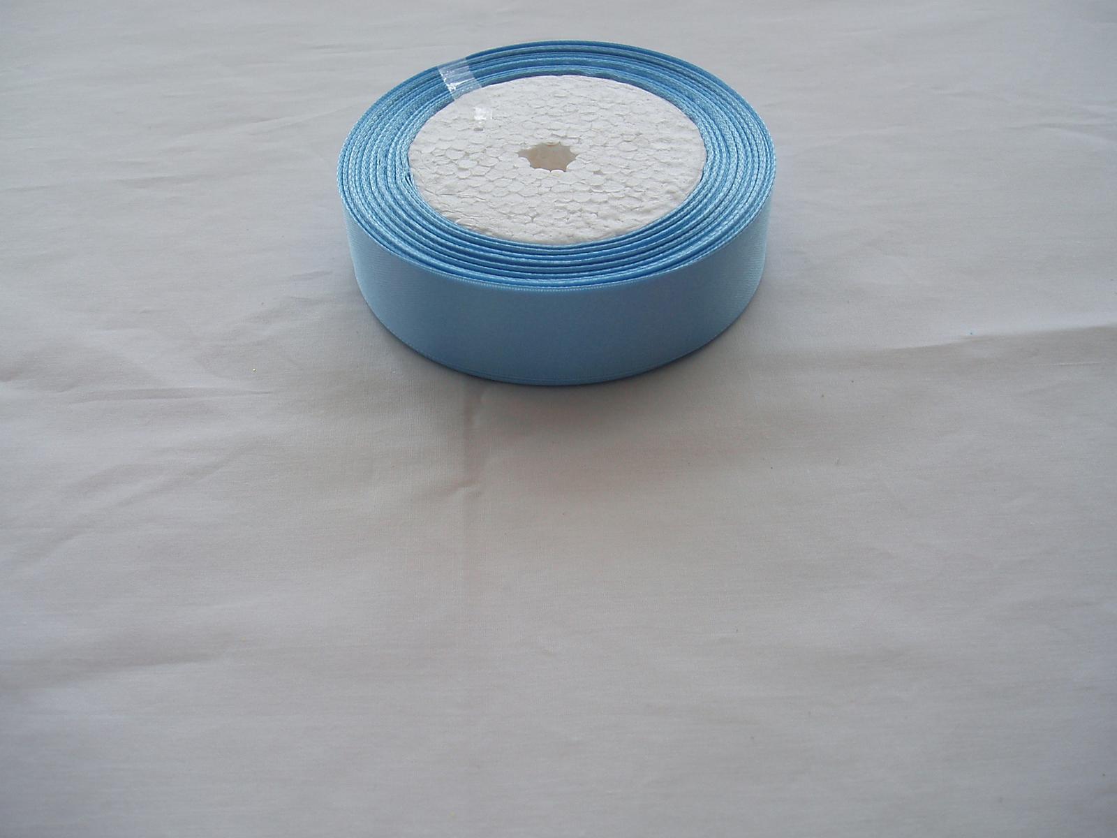 saténová stuha modrá-2 cm - Obrázek č. 1