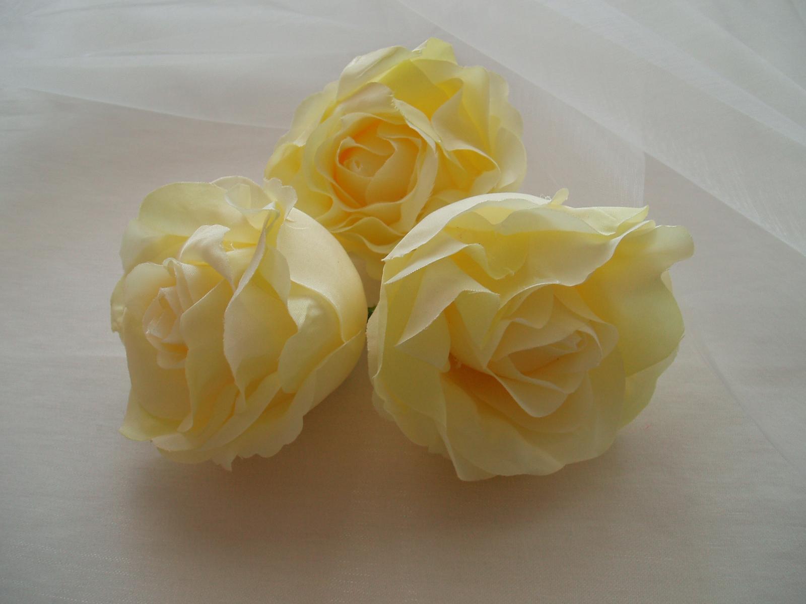 květ růže světle žluté - Obrázek č. 1