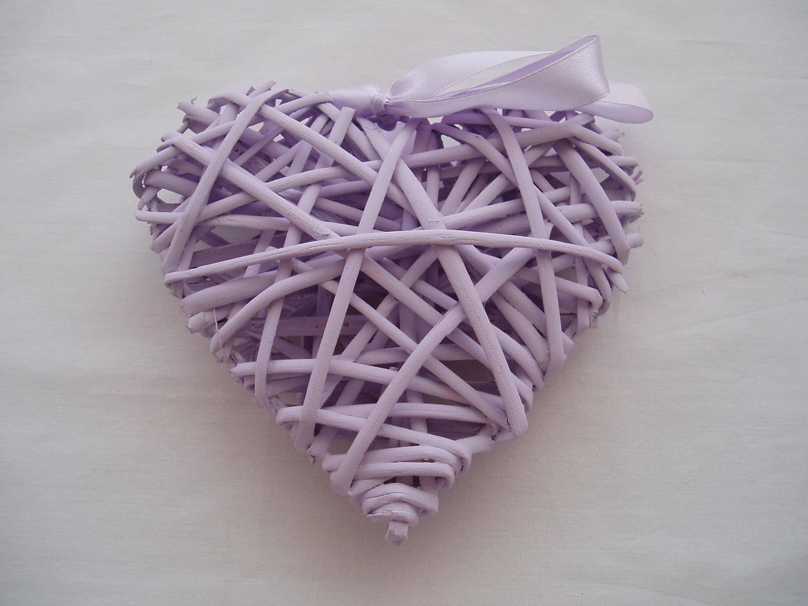 srdce z proutí-lila - Obrázek č. 1