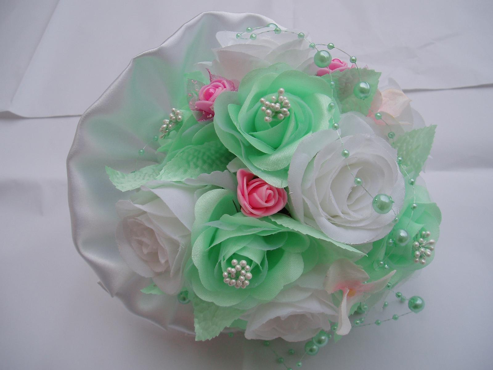 kytička mint-růžová-bílá - Obrázek č. 1