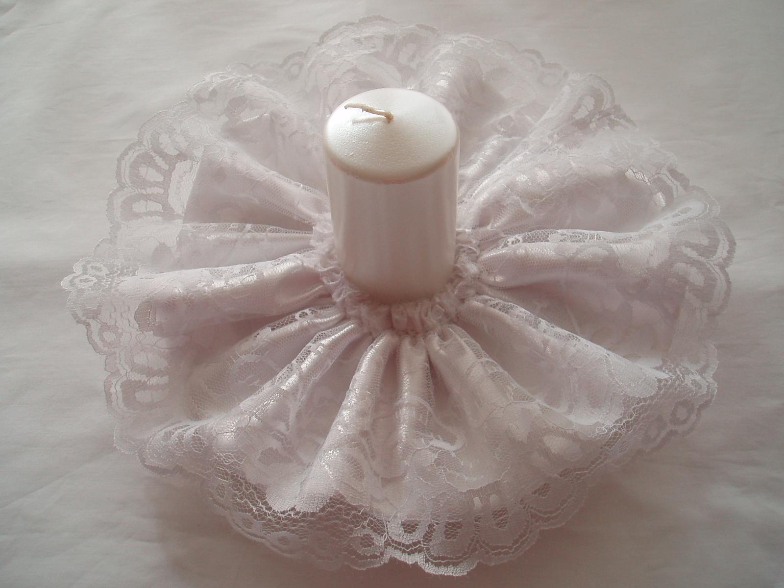 ozdoba na svíčku-krajka 3 - Obrázek č. 1