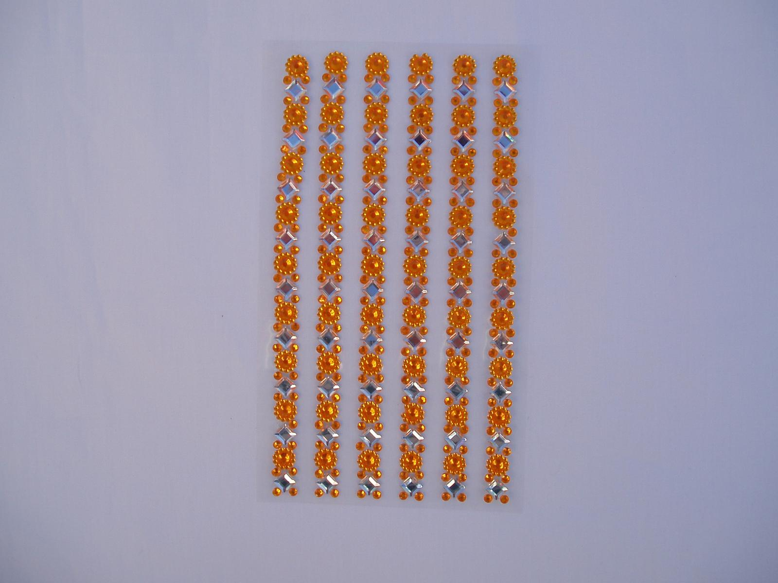lepící kamínky-žluté - Obrázek č. 1