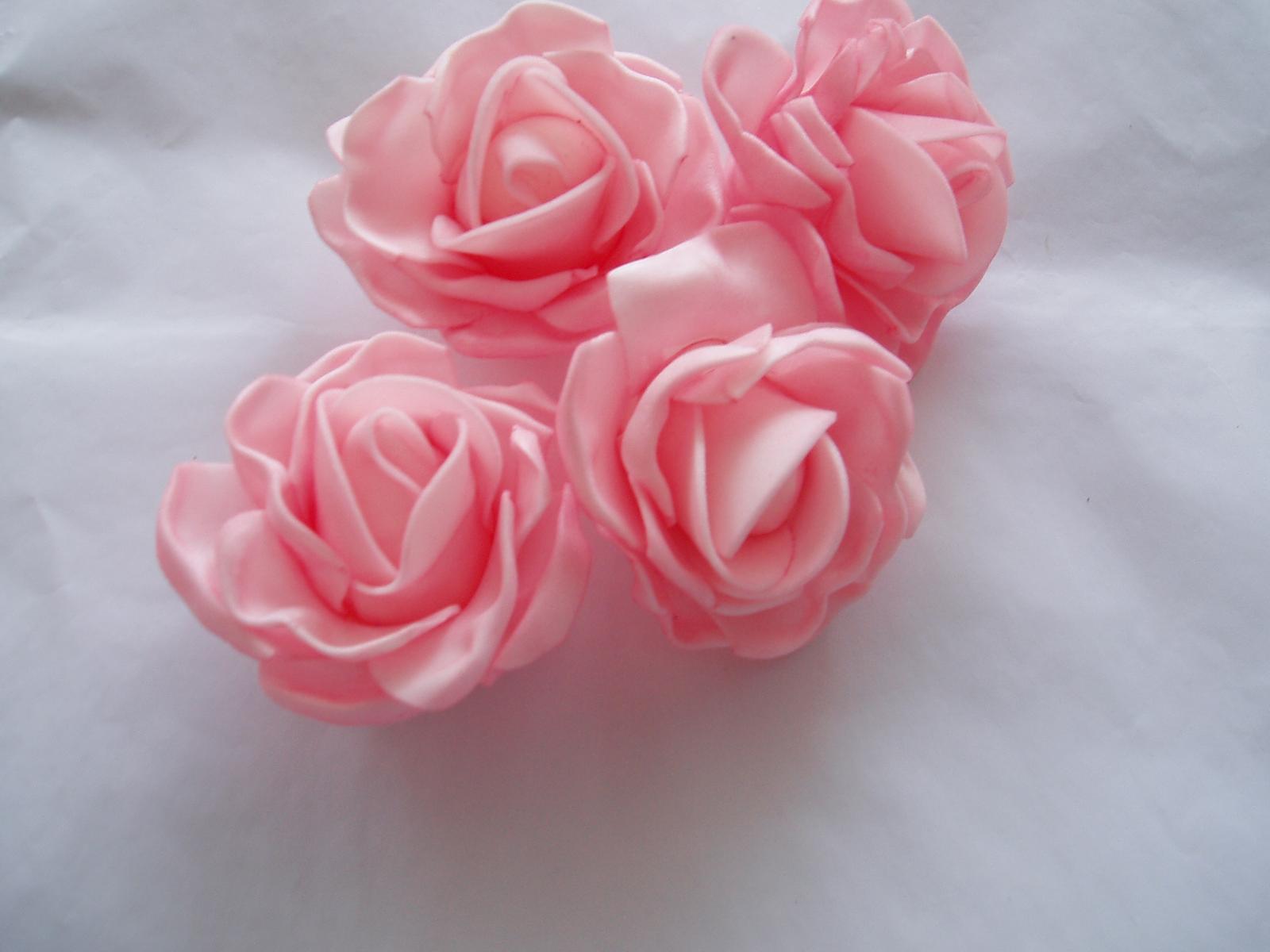 pěnová růže světle růžová - Obrázek č. 1