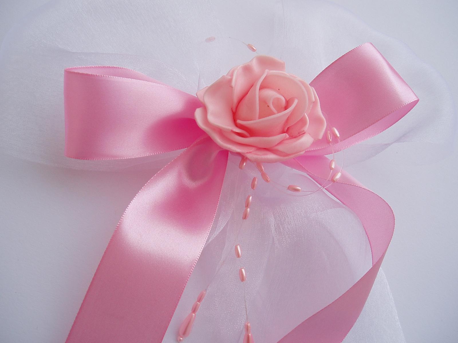 mašle na auto-růžová - Obrázek č. 1