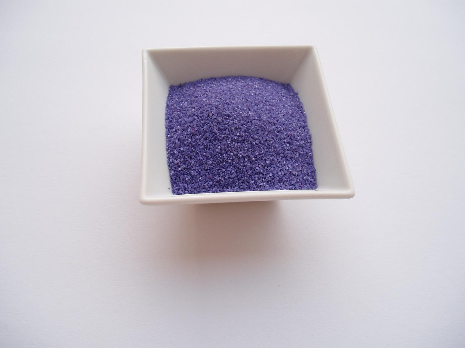 dekorační písek-fialový - Obrázek č. 1