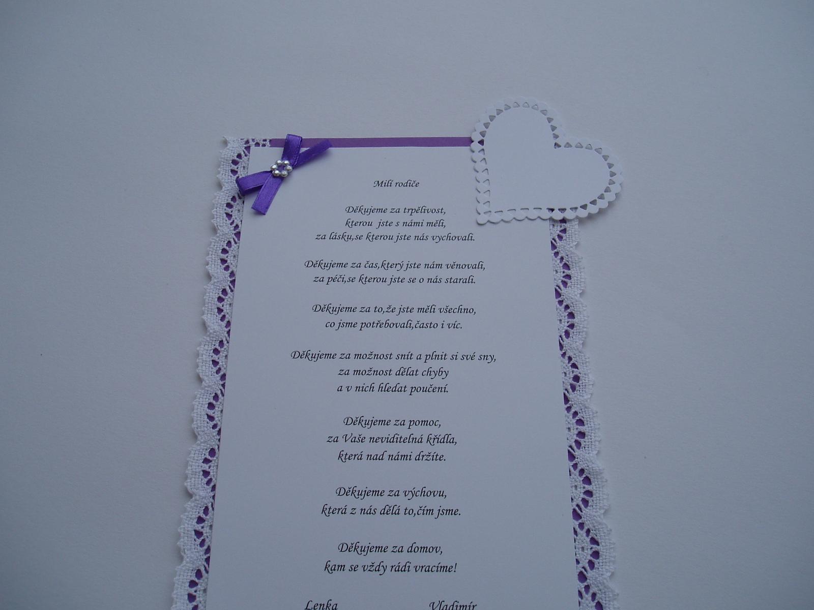 poděkování rodičům-fialové+krajka - Obrázek č. 2