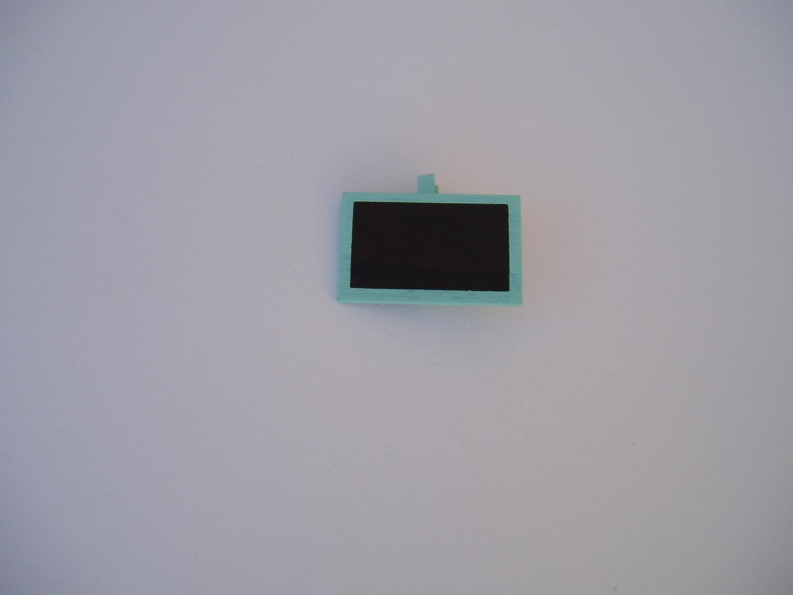 kolíček s tabulkou-tyrkysový - Obrázek č. 1