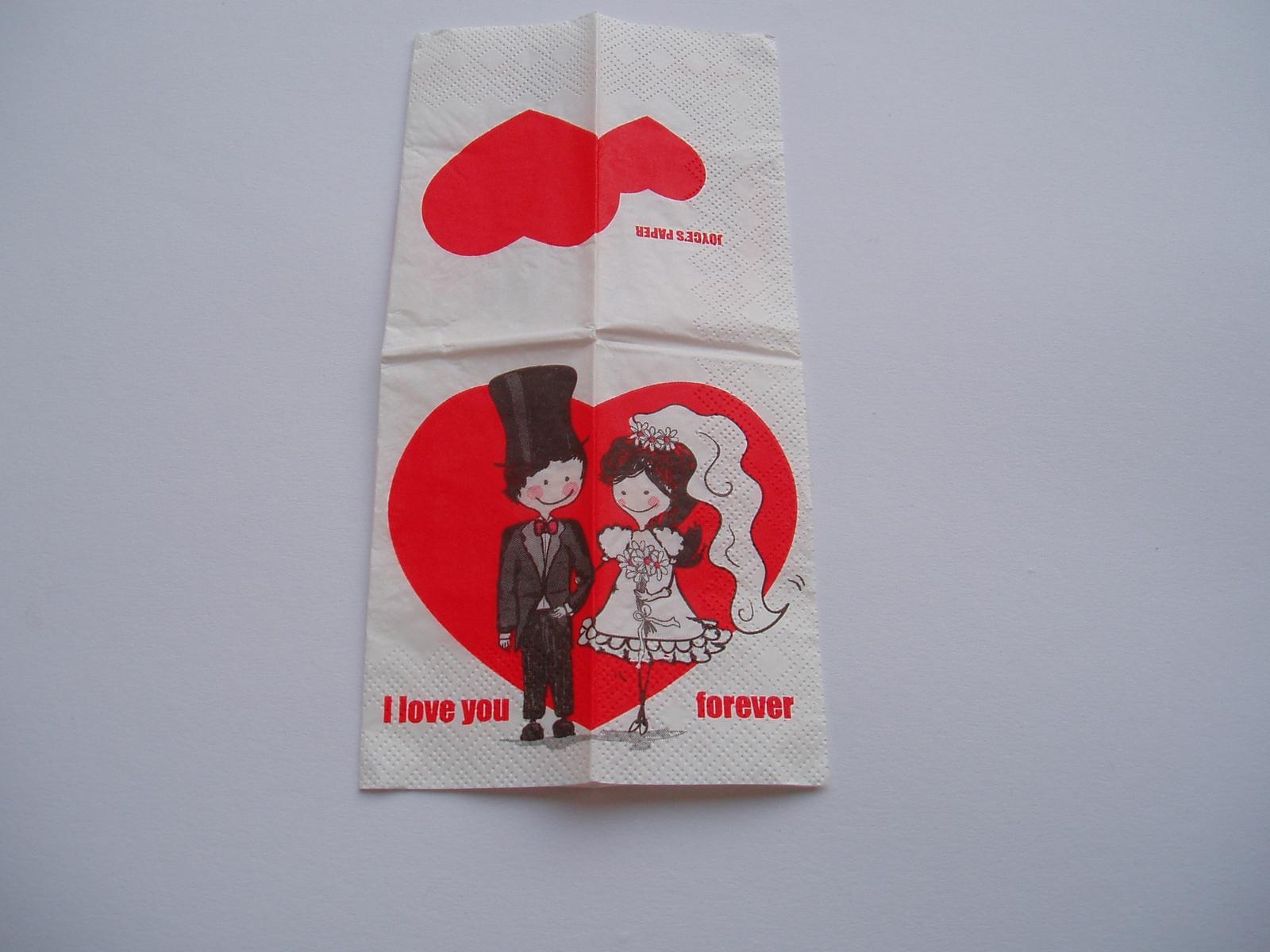 papírové kapesníčky-ženich s nevěstou - Obrázek č. 1
