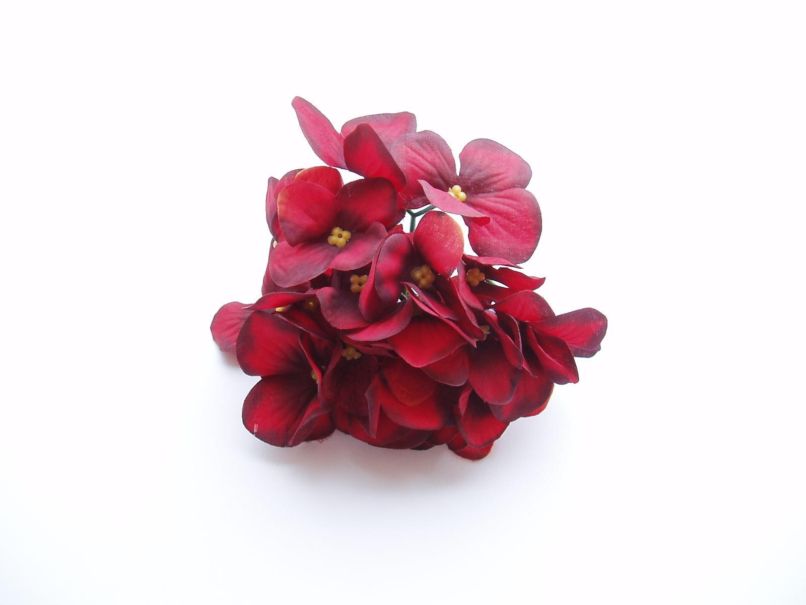 květ hortenzie-tmavě červený - Obrázek č. 1