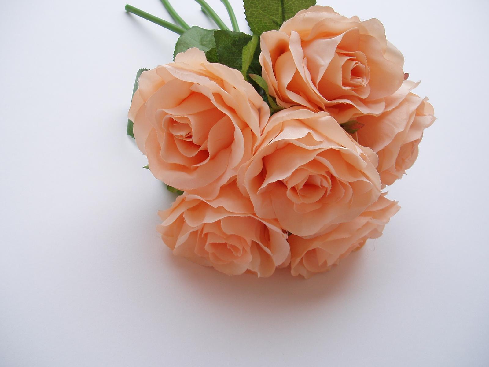kytice růží-lososová - Obrázek č. 1