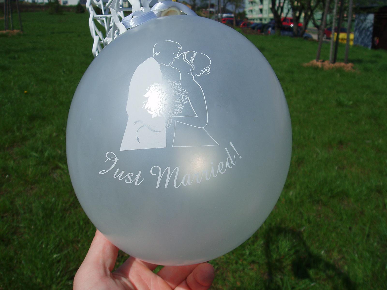 balónek - ženich a nevěsta - Obrázek č. 1