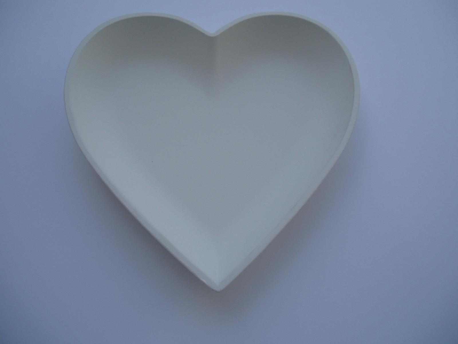 bílé srdíčko-miska - Obrázek č. 1