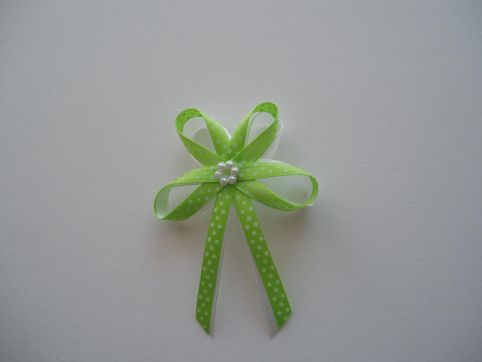 vývazek -zelený puntík - Obrázek č. 1
