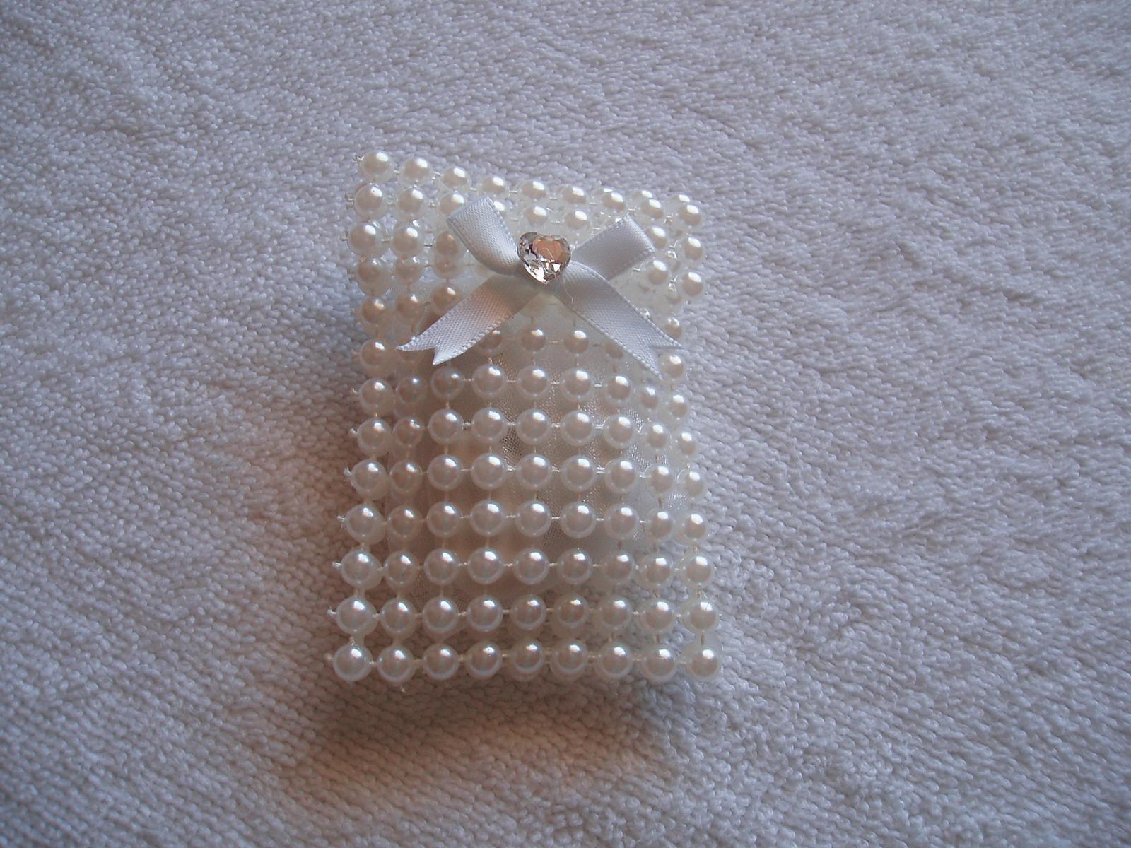 taštička na mandličky - bílá - Obrázek č. 1