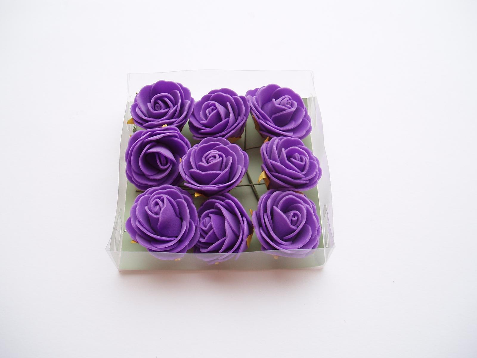 pěnová růžička-fialová - Obrázek č. 1