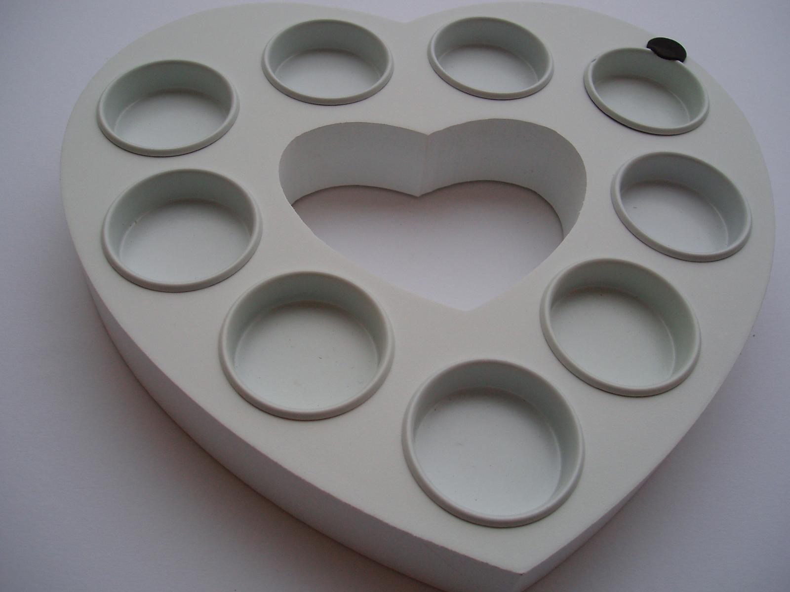 svícen srdce-bílé - Obrázek č. 1