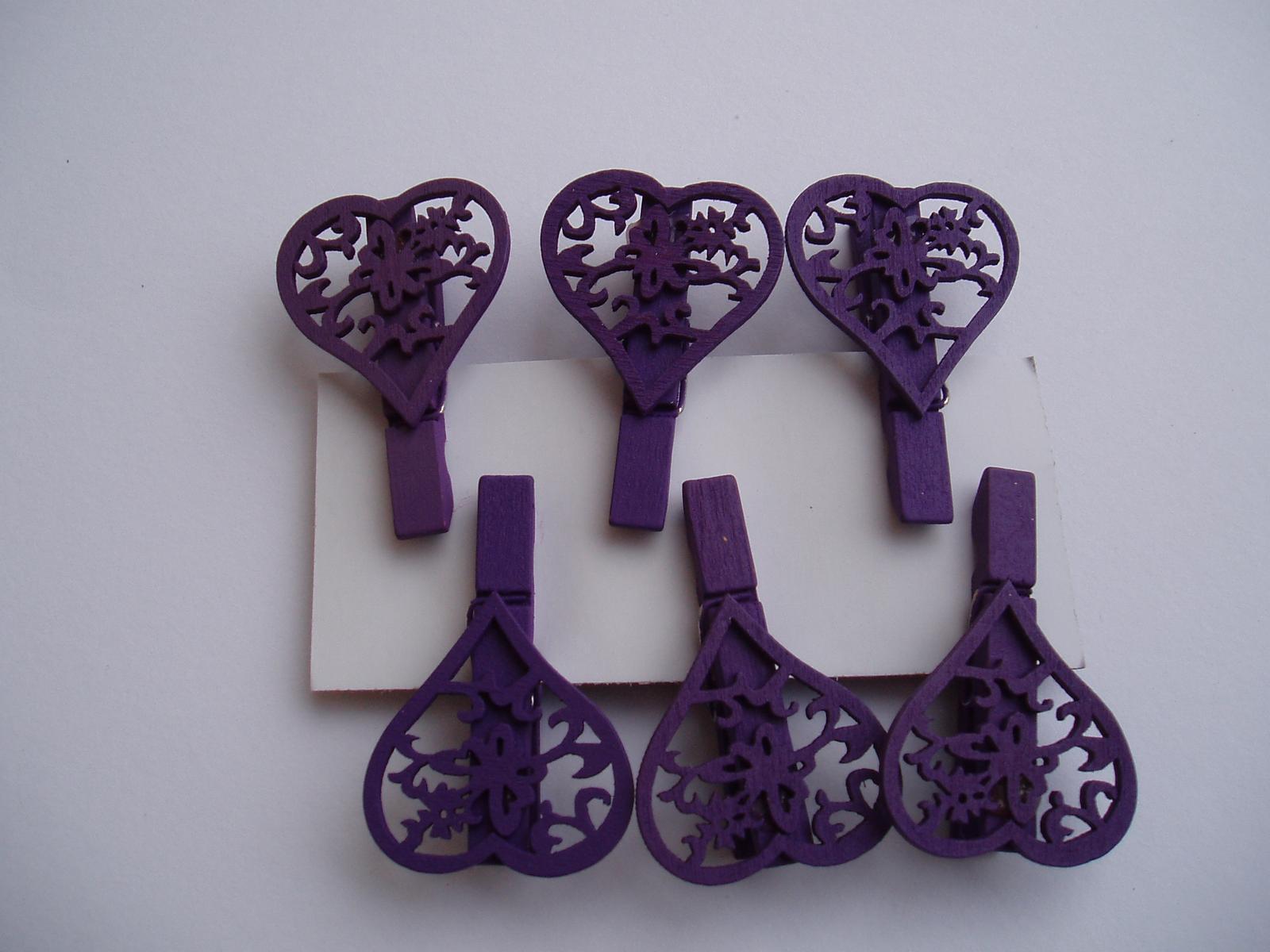 srdíčko na kolíku-fialové - Obrázek č. 1