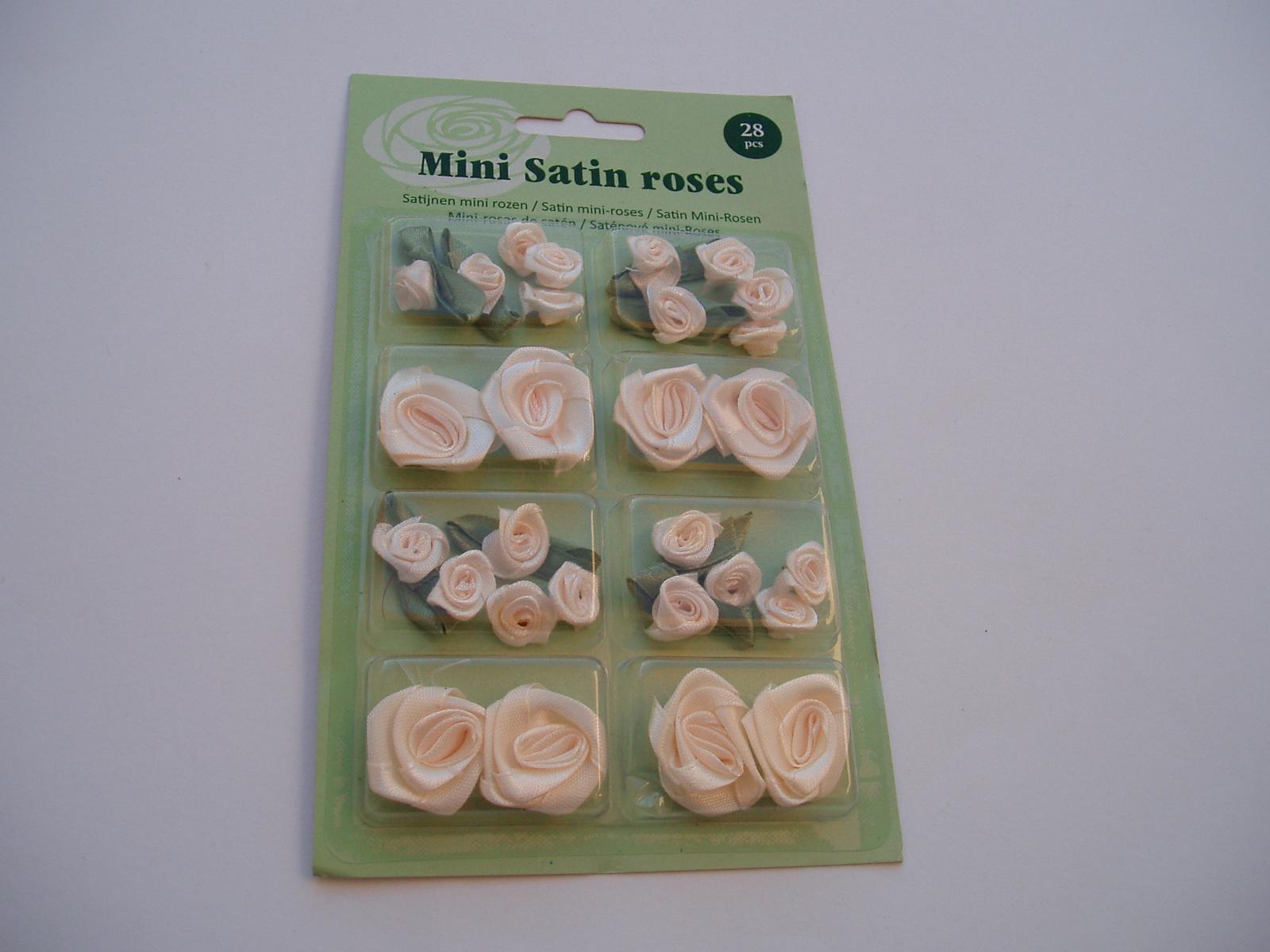 sada saténových růží-smetanové - Obrázek č. 1