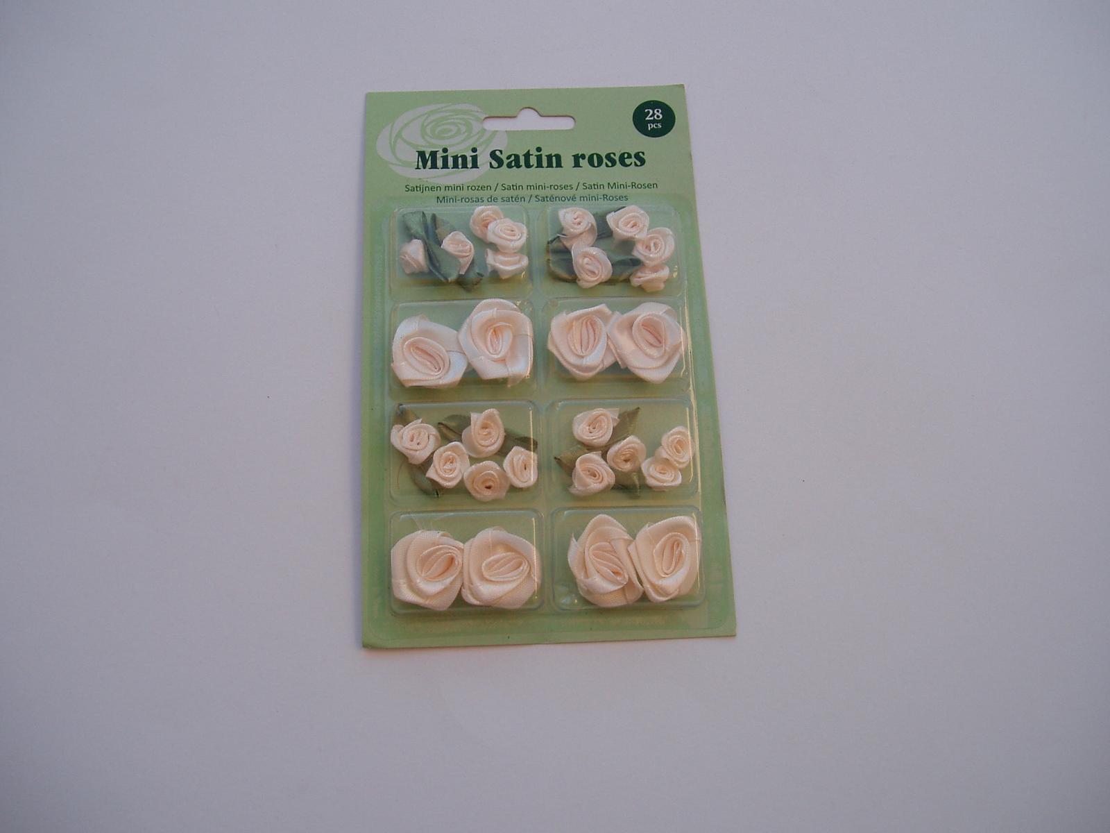 sada saténových růží-smetanové - Obrázek č. 2