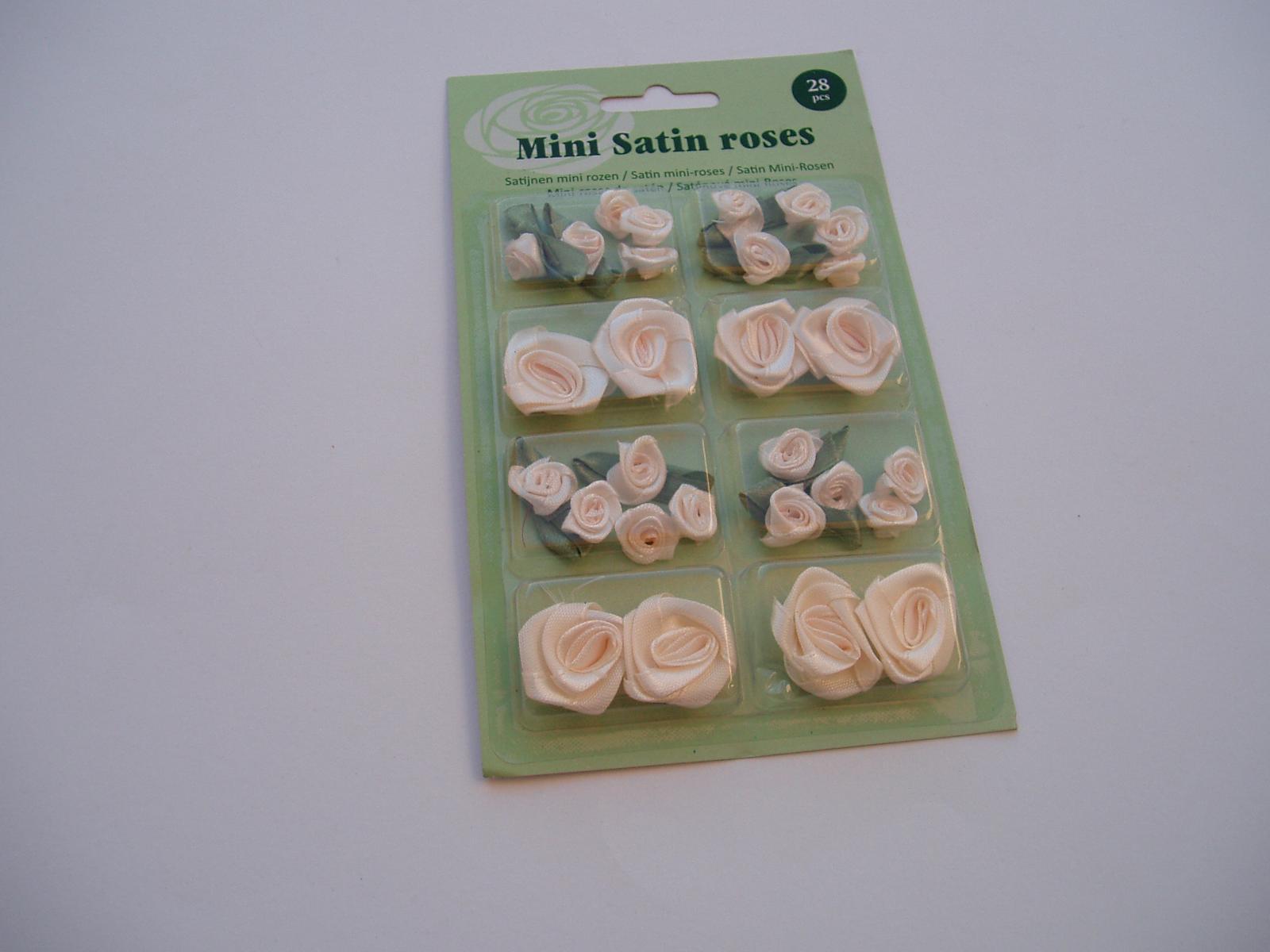 sada saténových růží-smetanové - Obrázek č. 3