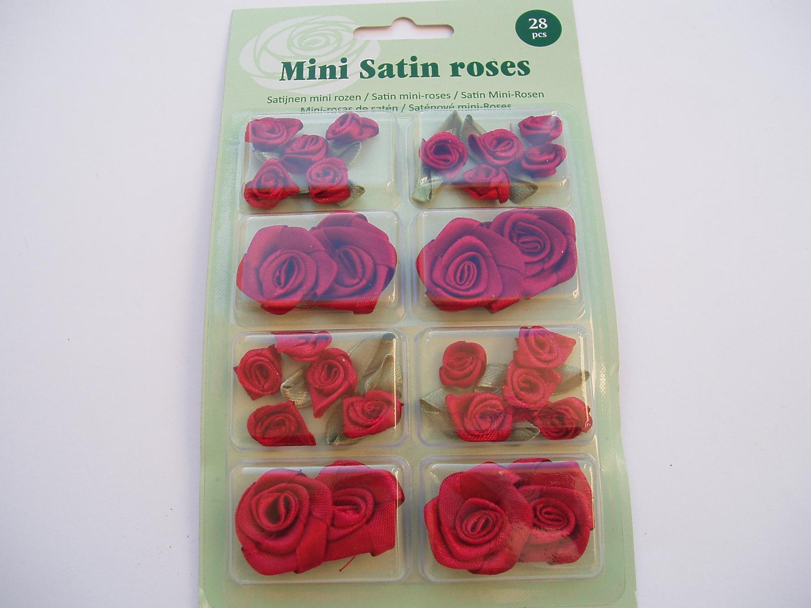 sada saténových růží-tmavě červená - Obrázek č. 1