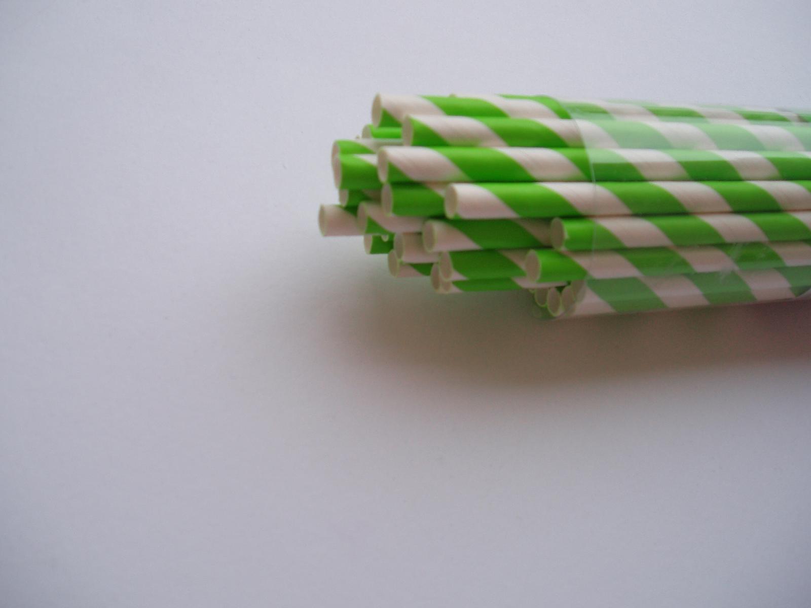 papírová brčka-zelená 40 ks - Obrázek č. 2