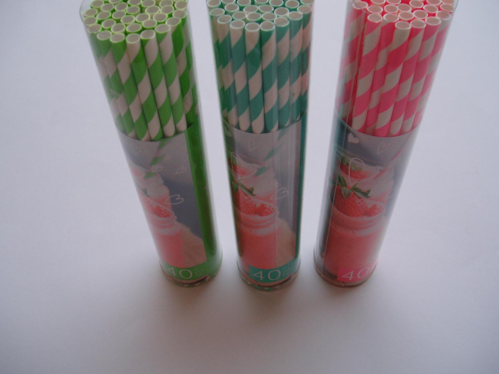 papírová brčka-zelená 40 ks - Obrázek č. 4