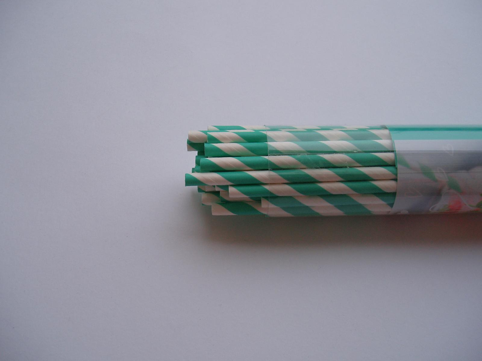 papírové brčka-40 ks - Obrázek č. 1