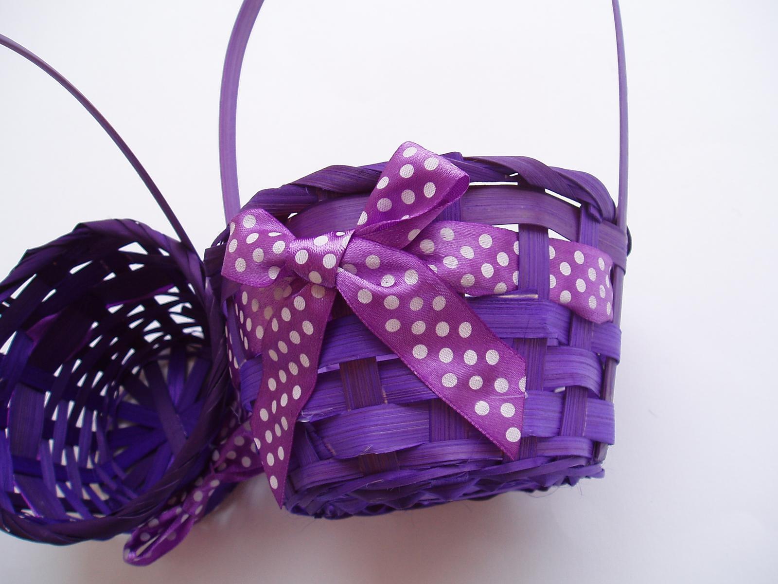 košíček fialový - Obrázek č. 1