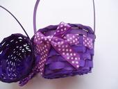 košíček fialový,