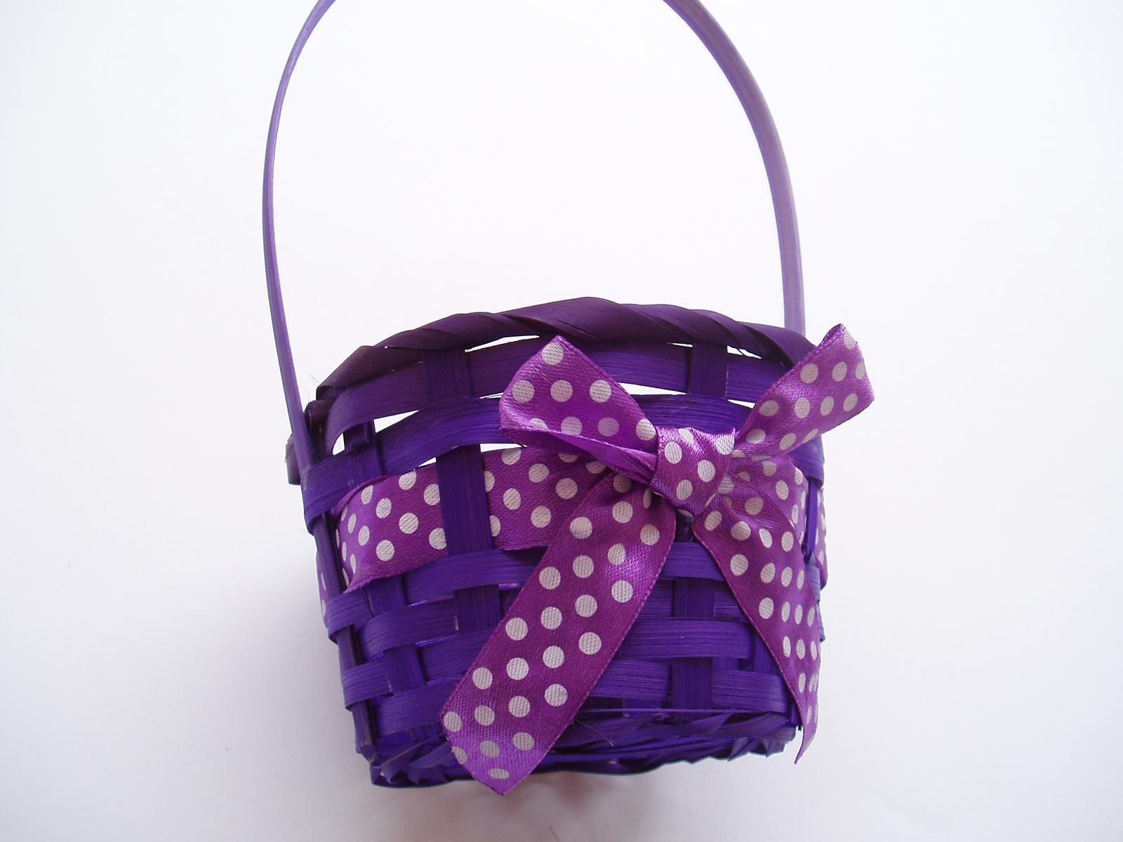 košík fialový 2 - Obrázek č. 1