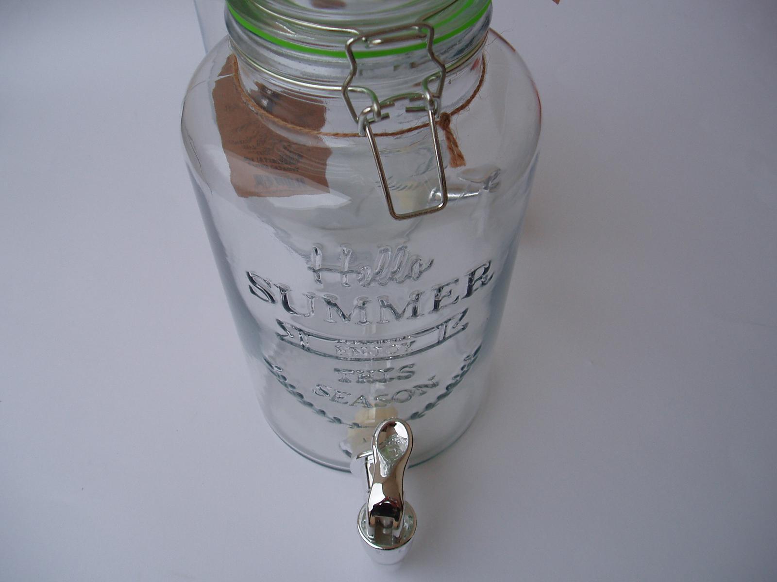 skleněná nádoba s kohoutkem - Obrázek č. 4