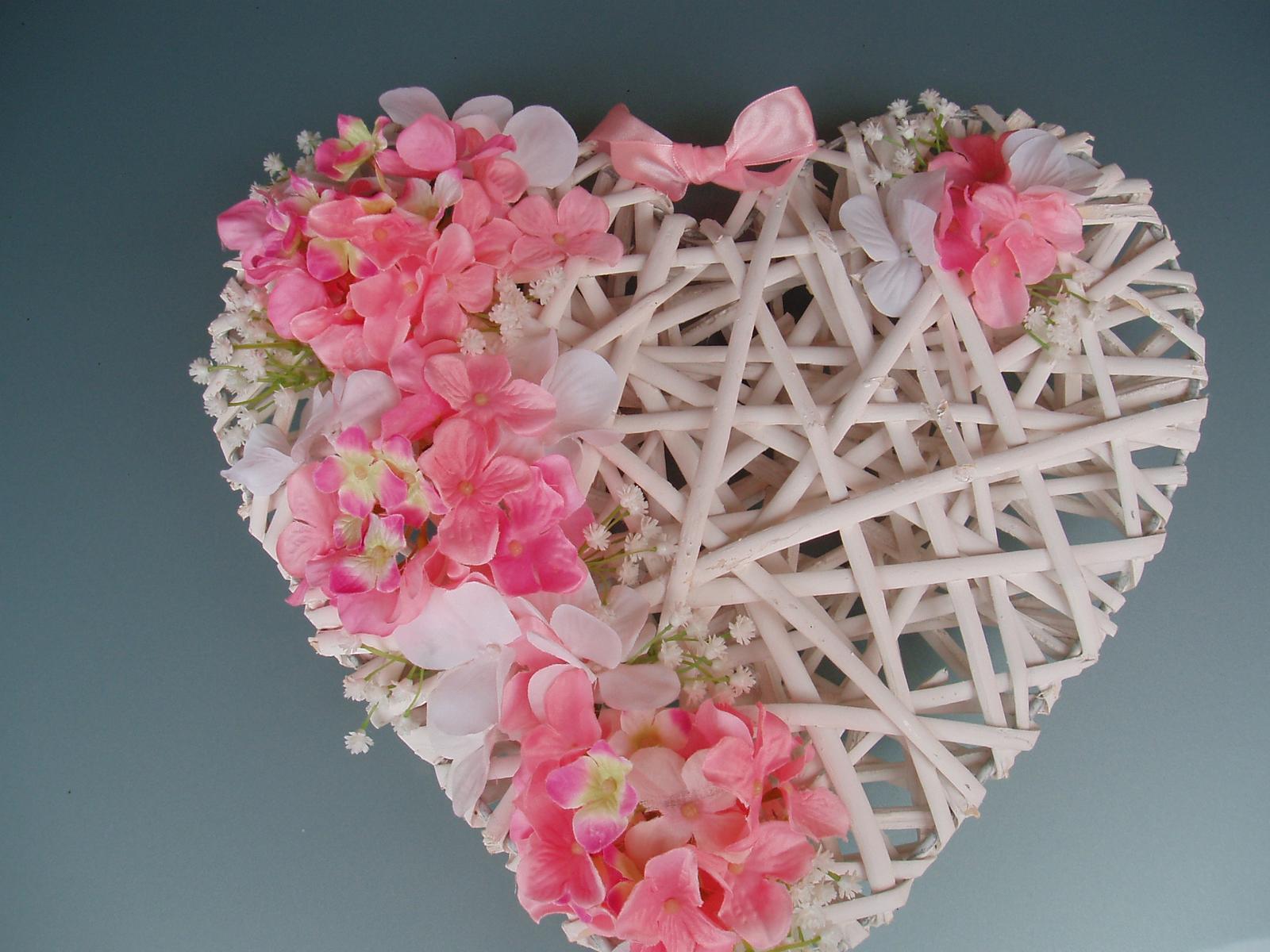 srdce-růžová  hortenzie - Obrázek č. 1
