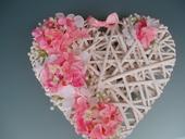 srdce-růžová  hortenzie,